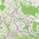 "Streckenübersicht ""Kurze"" Strecke - 107 Km"